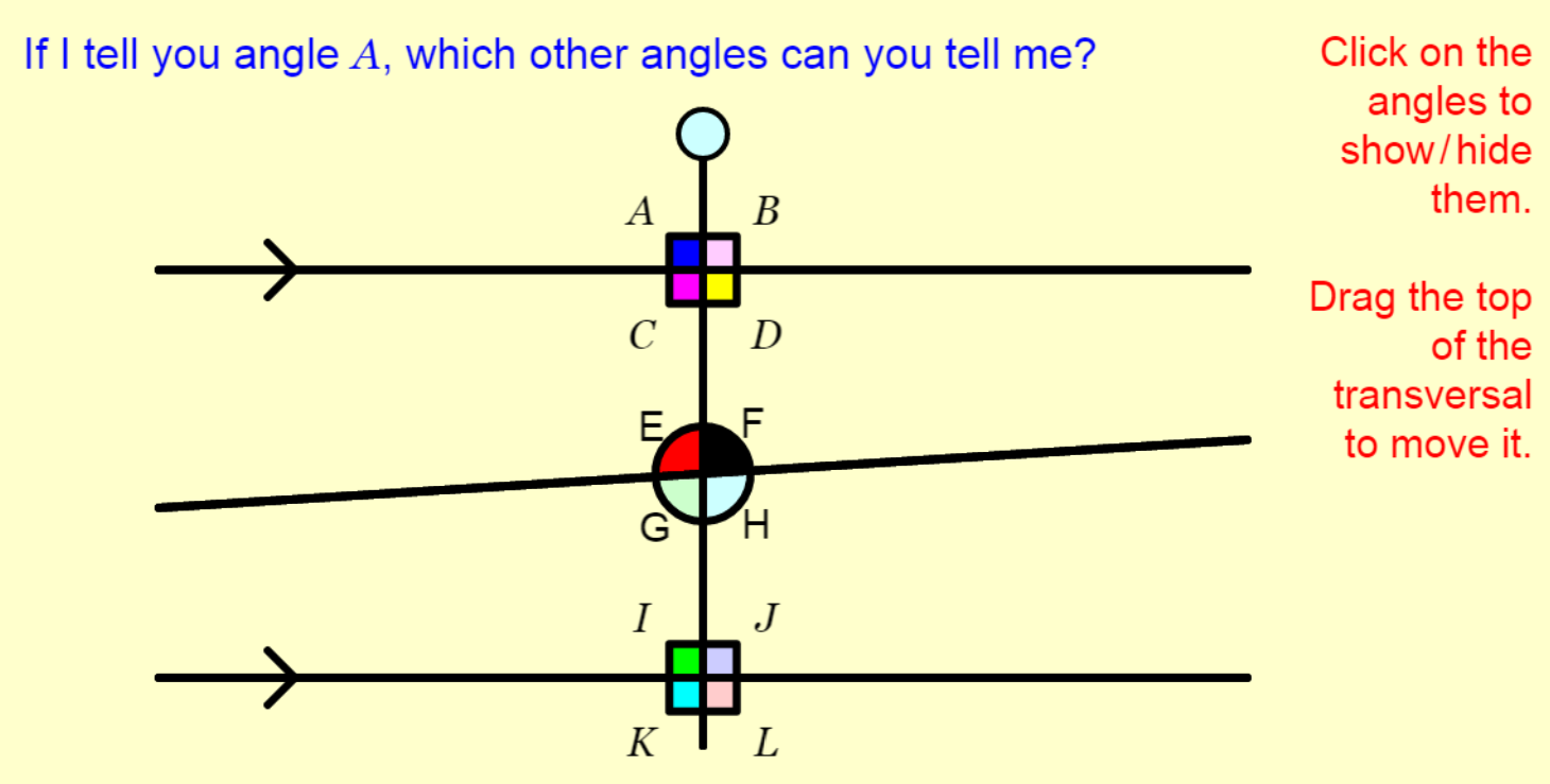 Lesson plans angles on parallel lines estimating angles task robcynllc Choice Image