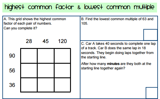 Factors Multiples – Lcm Gcf Worksheet