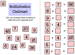 Multiplication and Division Starter Activity
