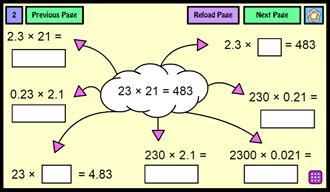 multiplying decimals tool