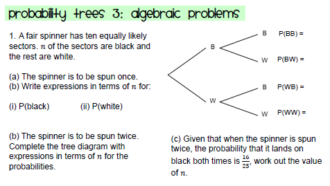 Probability probability trees algebraic problems ccuart Images