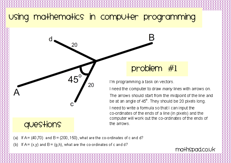 real maths computer programming problem