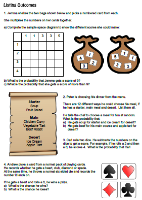 Worksheets Sample Space Worksheet collection of sample space worksheet sharebrowse pictures beatlesblogcarnival
