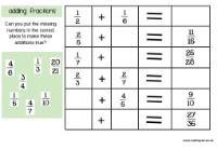 math worksheet : fractions : Fractions Puzzle Worksheet