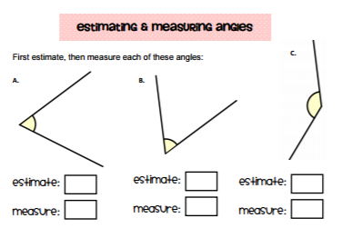 Estimating And Measuring Angles Worksheet
