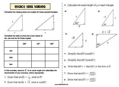 Trigonometry Resources
