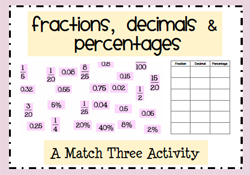 math worksheet : percentages : Fractions Decimals Percentages Worksheet