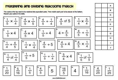 math worksheet : fractions : Dividing Fractions Printable Worksheets