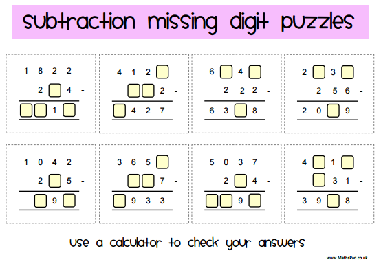 WrittenCalculations on Addition And Subtraction Worksheets Grade 3