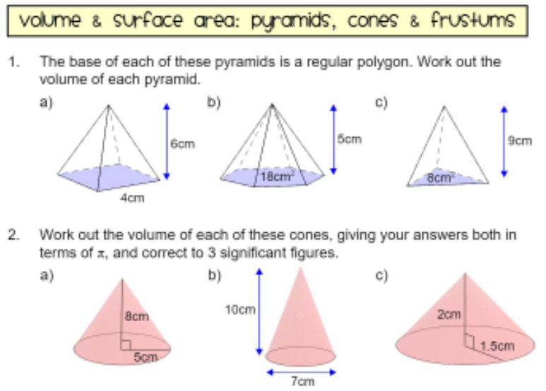 Volume Surface Area